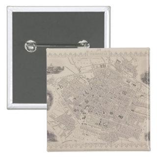 Antique Map of Belgium 2 Inch Square Button