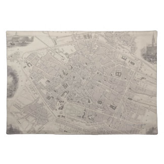 Antique Map of Belgium Place Mats