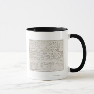 Antique Map of Croatia Mug