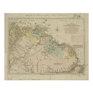 Antique Map of Curacao, Bonaire, Aruba, Suriname Poster