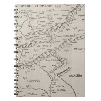 Antique Map of Eastern Europe Notebooks