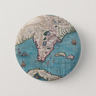 Antique Map of Florida and Cuba 2 Inch Round Button