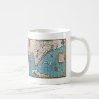 Antique Map of Florida and Cuba Coffee Mug