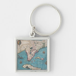 Antique Map of Florida and Cuba Keychain