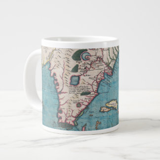 Antique Map of Florida and Cuba Large Coffee Mug