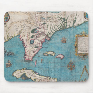 Antique Map of Florida and Cuba Mouse Pad
