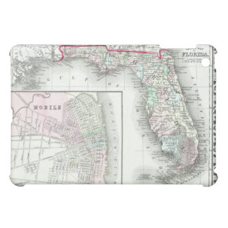 Antique Map of Florida Mobile Alabama iPad Mini Cover