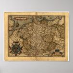 Antique Map of Germany Ortelius Atlas Poster