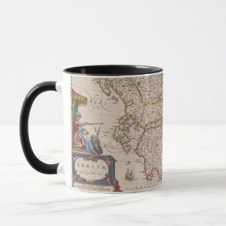 Antique map of Græcia (Southern Italy), Mug / Cup