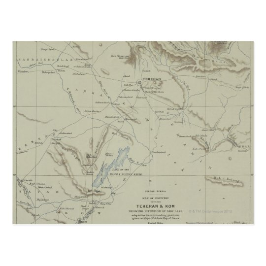 Antique Map of Iran Postcard