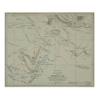 Antique Map of Iran Poster