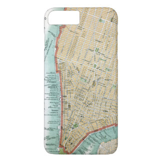 Antique Map of Lower Manhattan and Central Park iPhone 8 Plus/7 Plus Case
