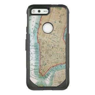 Antique Map of Lower Manhattan and Central Park OtterBox Commuter Google Pixel Case