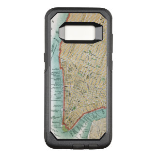 Antique Map of Lower Manhattan and Central Park OtterBox Commuter Samsung Galaxy S8 Case