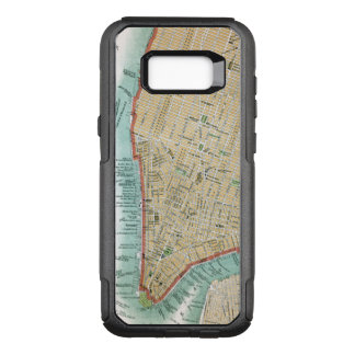 Antique Map of Lower Manhattan and Central Park OtterBox Commuter Samsung Galaxy S8+ Case