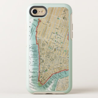 Antique Map of Lower Manhattan and Central Park OtterBox Symmetry iPhone 8/7 Case