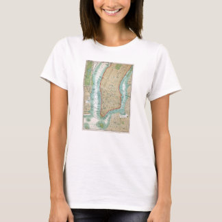Antique Map of Lower Manhattan and Central Park T-Shirt