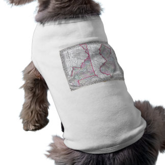 Antique Map of Maryland New Jersey Delaware Pet T-shirt