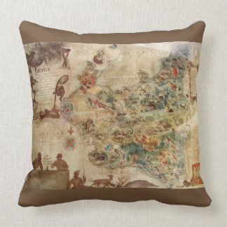 ANTIQUE MAP OF POLAND PILLOW