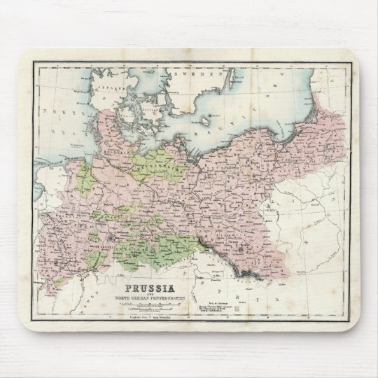 Antique Map of Prussia Mouse Pad