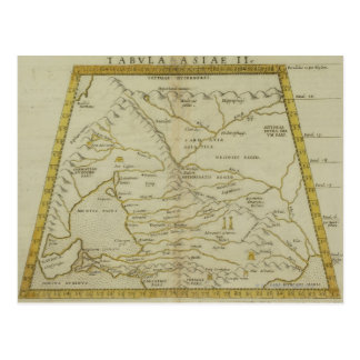 Antique Map of Russia Postcard