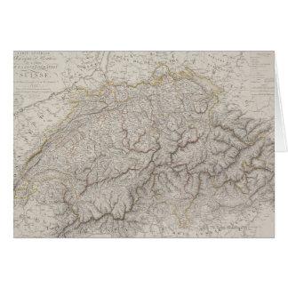 Antique Map of Switzerland Card