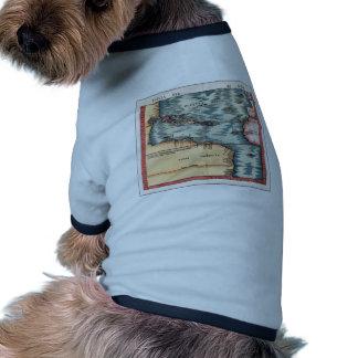 Antique Map of The Atlantic Ocean Pet Shirt