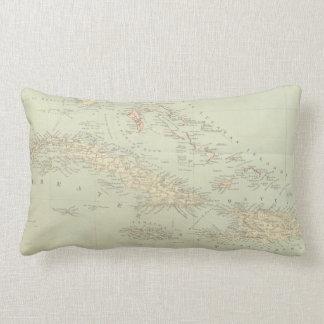 Antique Map of the Bahama Islands Lumbar Pillow