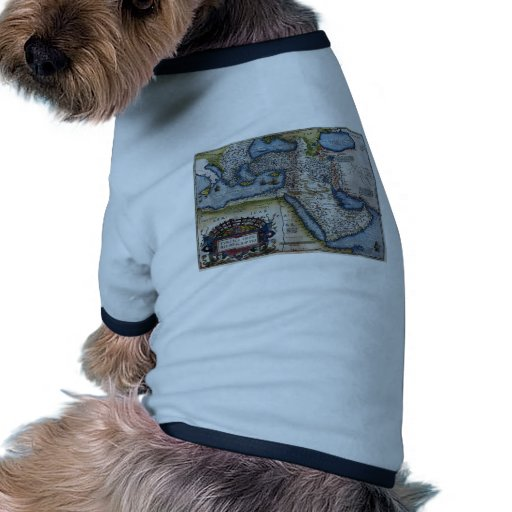 Antique Map of The Middle East Pet Tshirt