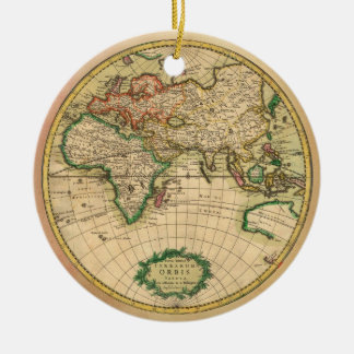 Antique Map of the World Ceramic Ornament
