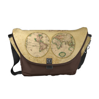 Antique Map of the World Courier Bag