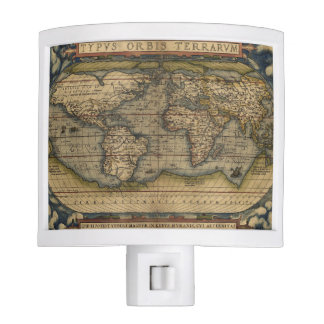 Antique Map of the World Nite Lites