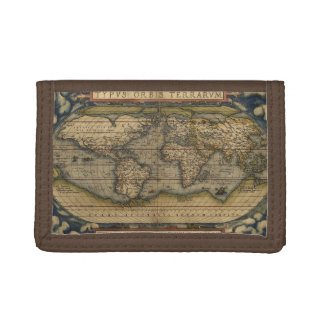 Antique Map of the World Trifold Wallet