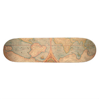Antique Map - Orbis Terrae Compendiosa Descritio Skateboard Decks