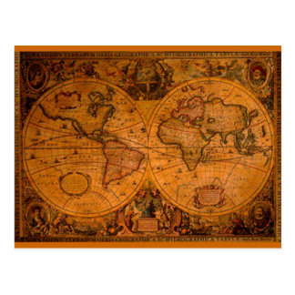 ANTIQUE MAP POST CARD