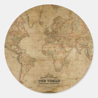 Antique Map Series Round Sticker