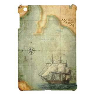 Antique map & Ship iPad Mini Covers