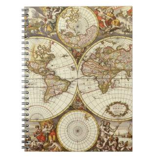 Antique Map Spiral Notebook