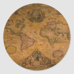 ANTIQUE MAP STICKERS
