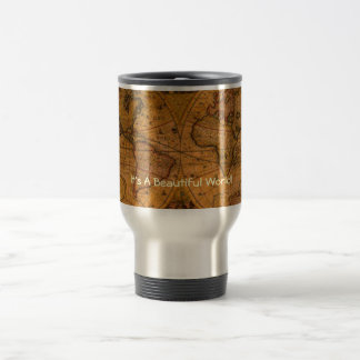 ANTIQUE MAP TRAVEL MUG