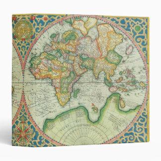 Antique Map Travel Portfolio Binders