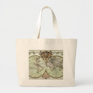 Antique Maps of the World Jumbo Tote Bag