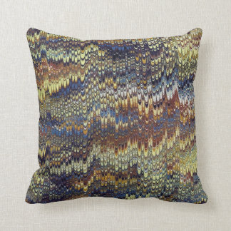 Antique Marbled Paper Throw Pillow