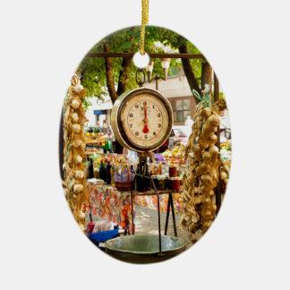 Antique Market Scale Ceramic Ornament