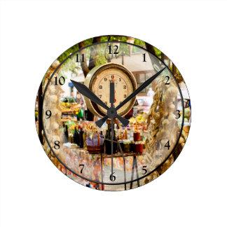 Antique Market Scale Round Clock