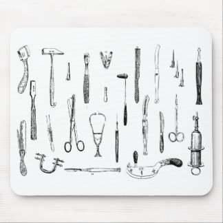 Antique medical instruments mouse pad