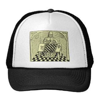 Antique Medieval Chess Woodcut Trucker Hat