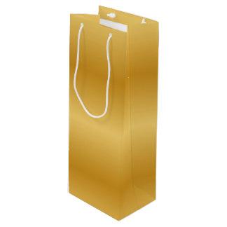 Antique Metallic Gold Wine Gift Bag