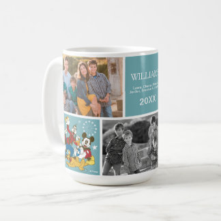 Antique Mickey and Friends | Family Photo and Text Coffee Mug