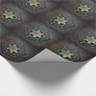 Antique mosaic kaleidoscope tiled paper